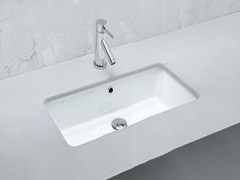 - Undermount rectangular ceramic washbasin GEA | Ceramic washbasin - Hidra Ceramica