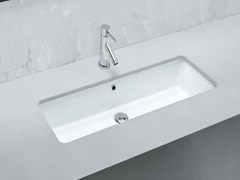- Undermount rectangular ceramic washbasin GEA | Washbasin - Hidra Ceramica