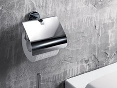 - Metal toilet roll holder GEALUNA | Toilet roll holder with cover - INDA®