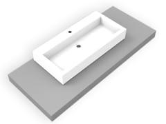 - Countertop rectangular Corian® washbasin GEOMETRIC SGE | Countertop washbasin - AMA Design