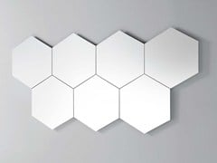 - Contemporary style wall-mounted mirror GEOMETRIKA ESAGONALE - PIANCA
