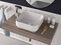 - Countertop square washbasin GIÒ | Ceramic washbasin - Hidra Ceramica