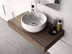 - Round ceramic washbasin GIÒ | Countertop washbasin - Hidra Ceramica