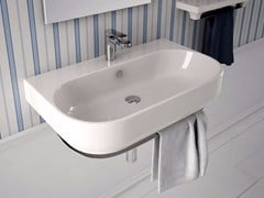 - Single ceramic washbasin GIÒ | Wall-mounted washbasin - Hidra Ceramica