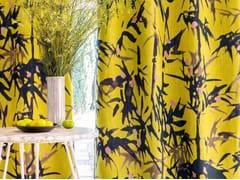 Tessuto in lino con motivi floreali per tendeGIARDINO - ÉLITIS