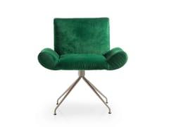 - Velvet guest chair GINEVRA | Trestle-based armchair - Quinti Sedute