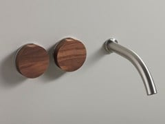 - 3 hole wall-mounted washbasin tap GIO 11 WOOD - Ceadesign S.r.l. s.u.