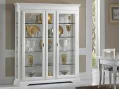 - Lacquered wood and glass display cabinet GIOTTO | Lacquered display cabinet - Arvestyle