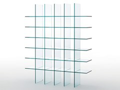 Libreria a giorno autoportante in cristallo GLASS SHELVES #1 (1976) - GLAS ITALIA