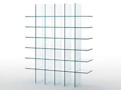 Libreria a giorno autoportante in cristalloGLASS SHELVES #1 (1976) - GLAS ITALIA