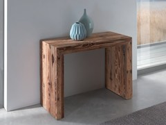 - Extending rectangular wooden console table GLASS | Wooden console table - Ozzio Italia
