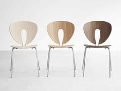 - Stackable wooden chair GLOBUS | Wooden chair - STUA