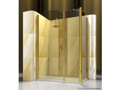 - Corner custom tempered glass shower cabin GOLD A2+FD - VISMARAVETRO