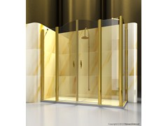 - Corner custom glass shower cabin GOLD A4+FD - VISMARAVETRO