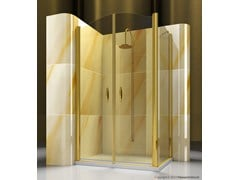 - Corner custom tempered glass shower cabin GOLD AD+FD - VISMARAVETRO