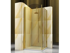 - Corner custom tempered glass shower cabin GOLD AP+FP - VISMARAVETRO