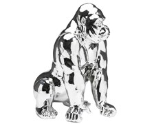 - Resin decorative object GORILLA CHROME - KARE-DESIGN