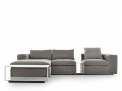 - Sectional 3 seater fabric sofa with chaise longue GRAFO | Sofa with chaise longue - MDF Italia