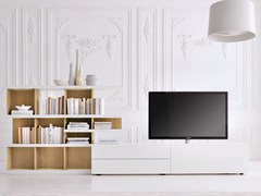 - Modular TV cabinet GRAPHOS-CHARLOTTE | TV cabinet with shelves - Silenia