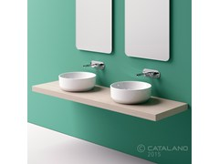 - Countertop round ceramic washbasin GREEN 42 - CERAMICA CATALANO