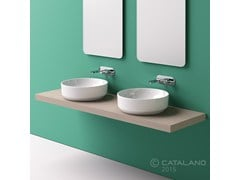 - Countertop round ceramic washbasin GREEN 48 - CERAMICA CATALANO