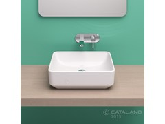 - Countertop rectangular ceramic washbasin GREEN 50 - CERAMICA CATALANO