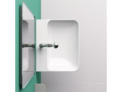 - Wall-mounted ceramic washbasin GREEN 60 - CERAMICA CATALANO