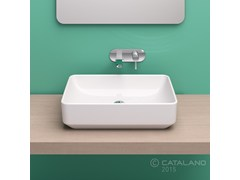 - Countertop rectangular ceramic washbasin GREEN 60 | Countertop washbasin - CERAMICA CATALANO