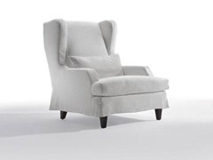 - Fabric armchair with armrests GREY | Fabric armchair - Marac