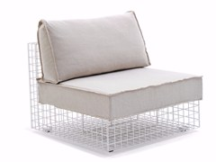 - Upholstered steel armchair GRID | Armchair - Varaschin