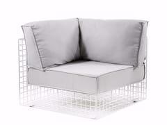 - Corner upholstered steel armchair GRID | Corner armchair - Varaschin