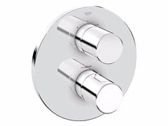 - Chrome-plated thermostatic shower mixer with plate GROHTHERM 3000 COSMOPOLITAN | Chrome-plated thermostatic shower mixer - Grohe