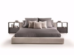 - Fabric double bed with removable cover GROUNDPIECE | Bed - FLEXFORM