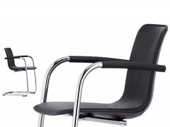 - Cantilever leather chair HAL LEATHER CANTILEVER ARMREST - Vitra