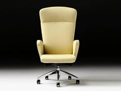 - Executive chair with 5-spoke base with armrests HALFPIPE | Leather executive chair - D.M.