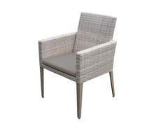 Sedia da giardino in rattan con braccioliHAMPSTEAD   Sedia con braccioli - P J BRIDGMAN & CO