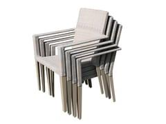 Sedia da giardino impilabile con braccioliHAMPSTEAD   Sedia impilabile - P J BRIDGMAN & CO