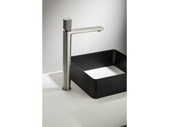 - Exposed basin mixer con handle made of concrete HAPTIC | Single lever basin mixer - RUBINETTERIE RITMONIO