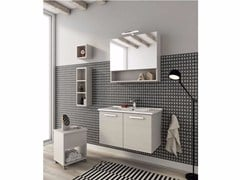 - Wall-mounted vanity unit with doors HARLEM H13 - LEGNOBAGNO