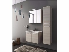- Wall-mounted vanity unit with doors HARLEM H7 - LEGNOBAGNO