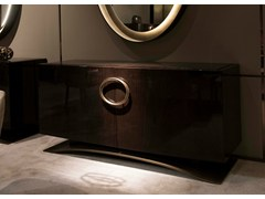 - Lacquered oak sideboard with doors HAUSSMANN | Oak sideboard - HUGUES CHEVALIER