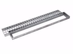 Griglia pesante rettangolare con telaio in acciaio zincatoGRIGLIA PESANTE RETTANGOLARE CON TELAIO - DAKOTA GROUP