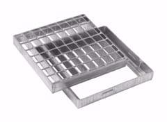 Griglia pesante quadrata con telaio in acciaio zincatoGRIGLIA PESANTE QUADRATA CON TELAIO - DAKOTA GROUP