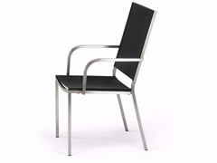 - High-back stainless steel garden chair HELIX | High-back chair - FISCHER MÖBEL