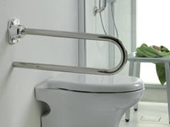 - U-shaped folding toilet grab bar HELP | Folding grab bar - INDA®