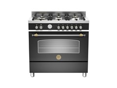 - Professional cooker HERITAGE - HER90 6 MFE S - Bertazzoni