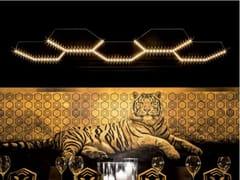 - LED direct-indirect light powder coated steel pendant lamp HEXA 5 - Le Deun Luminaires