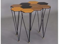 Tavolino da caffè laccato in metalloHEXAGONE - BINOME
