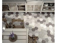 - Indoor/outdoor wall/floor tiles with concrete effect HEXATILE CEMENT | Wall/floor tiles - EQUIPE CERAMICAS