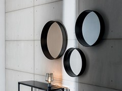 - Round wall-mounted framed mirror HORIZON - SOVET ITALIA